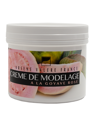 Modeling cream with pink guava